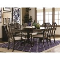 Bassett Provence Formal Dining Room Table and Chair Set - Item Number: 4479-4676+2x2450+4x2451