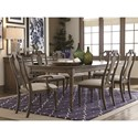 Bassett Provence Formal Dining Table and Chair Set - Item Number: 4779-4268+2x2450+4x2451