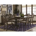 Bassett Provence Formal Dining Room Table and Chair Set - Item Number: 4779-4676+2x2450+4x2451