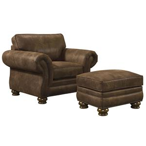 Bassett Sonoma  Upholstered Chair & Ottoman
