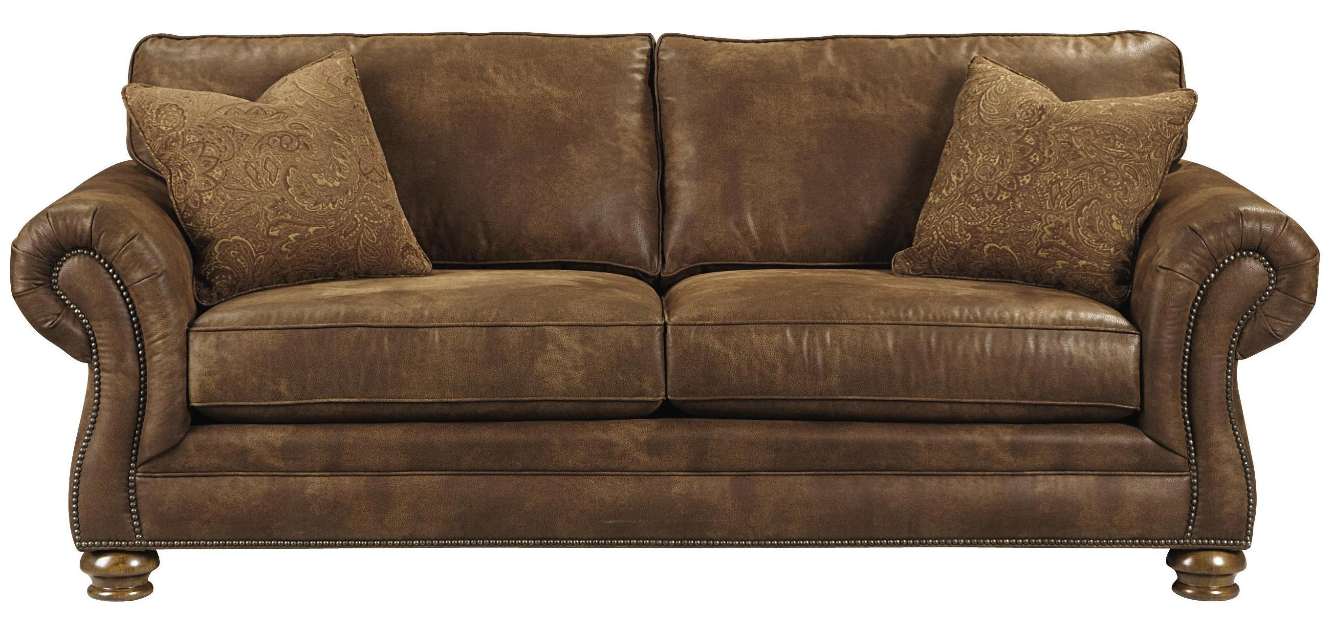 Bassett Sonoma Upholstered Sofa with Rolled Arms AHFA Sofa