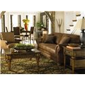 Bassett Sonoma  Upholstered Sofa with Rolled Arms - Shown with Chair