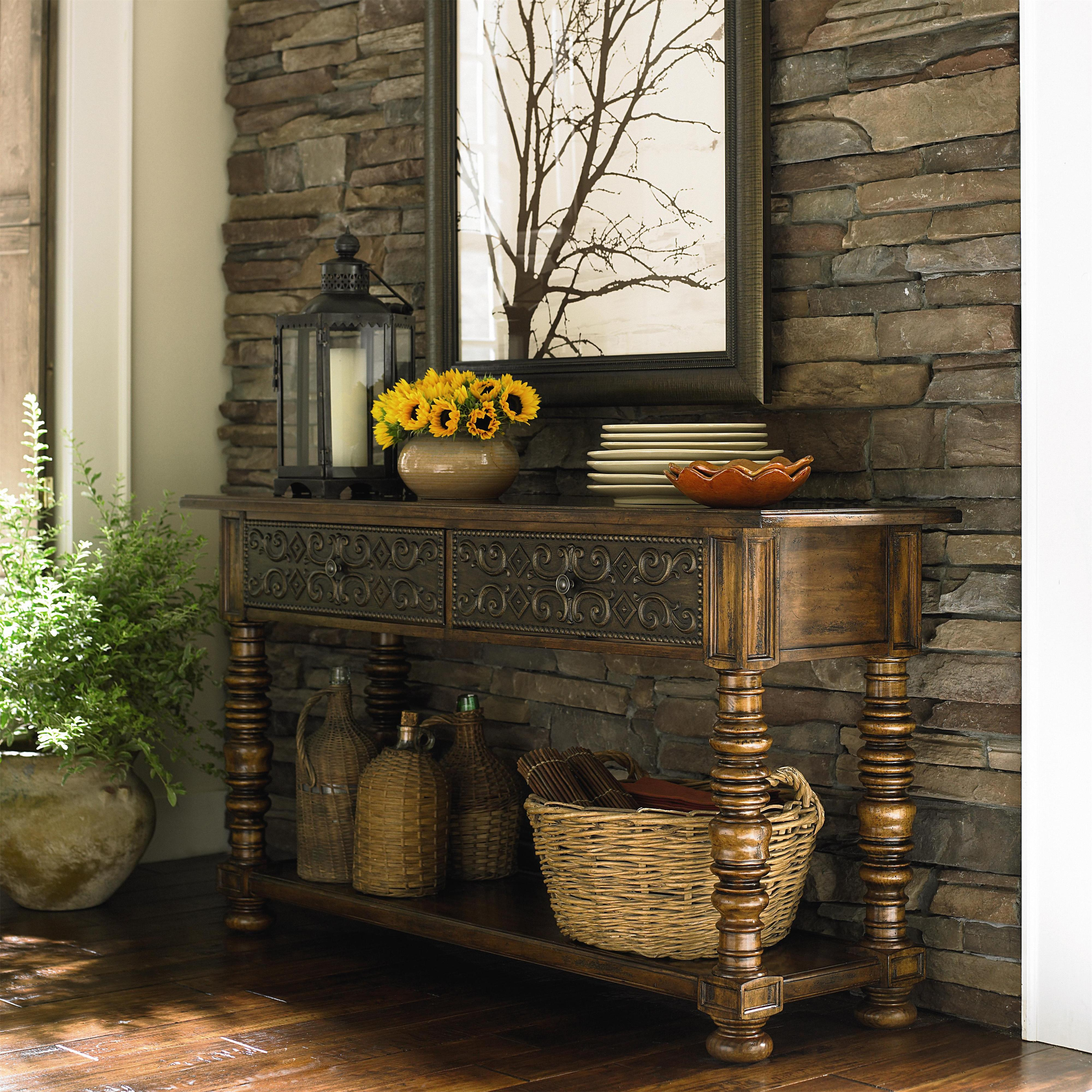 Sonoma Two Drawer Console Table By Bassett