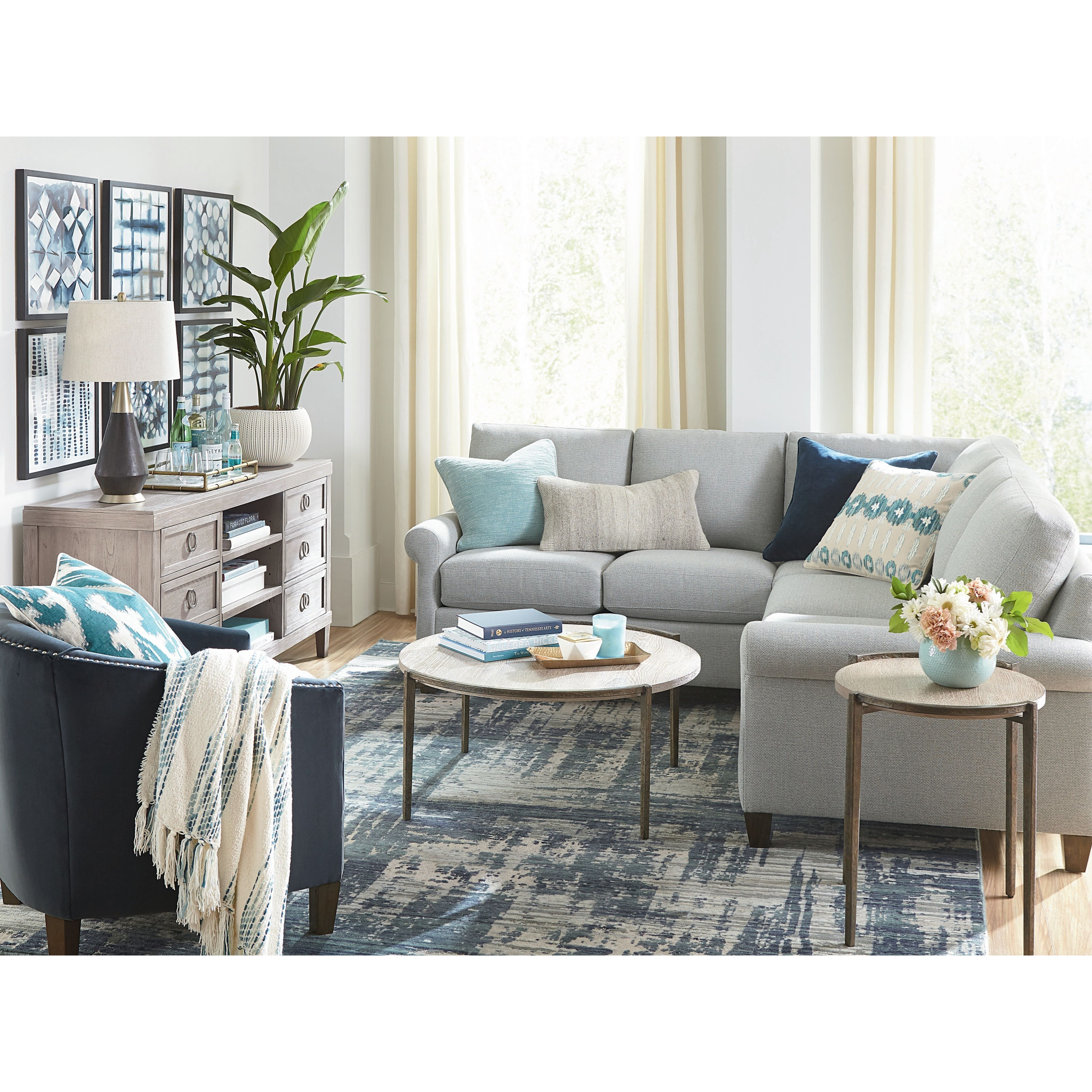 Spencer Right-Facing 2-Piece Sectional by Bassett at Bassett of Cool Springs