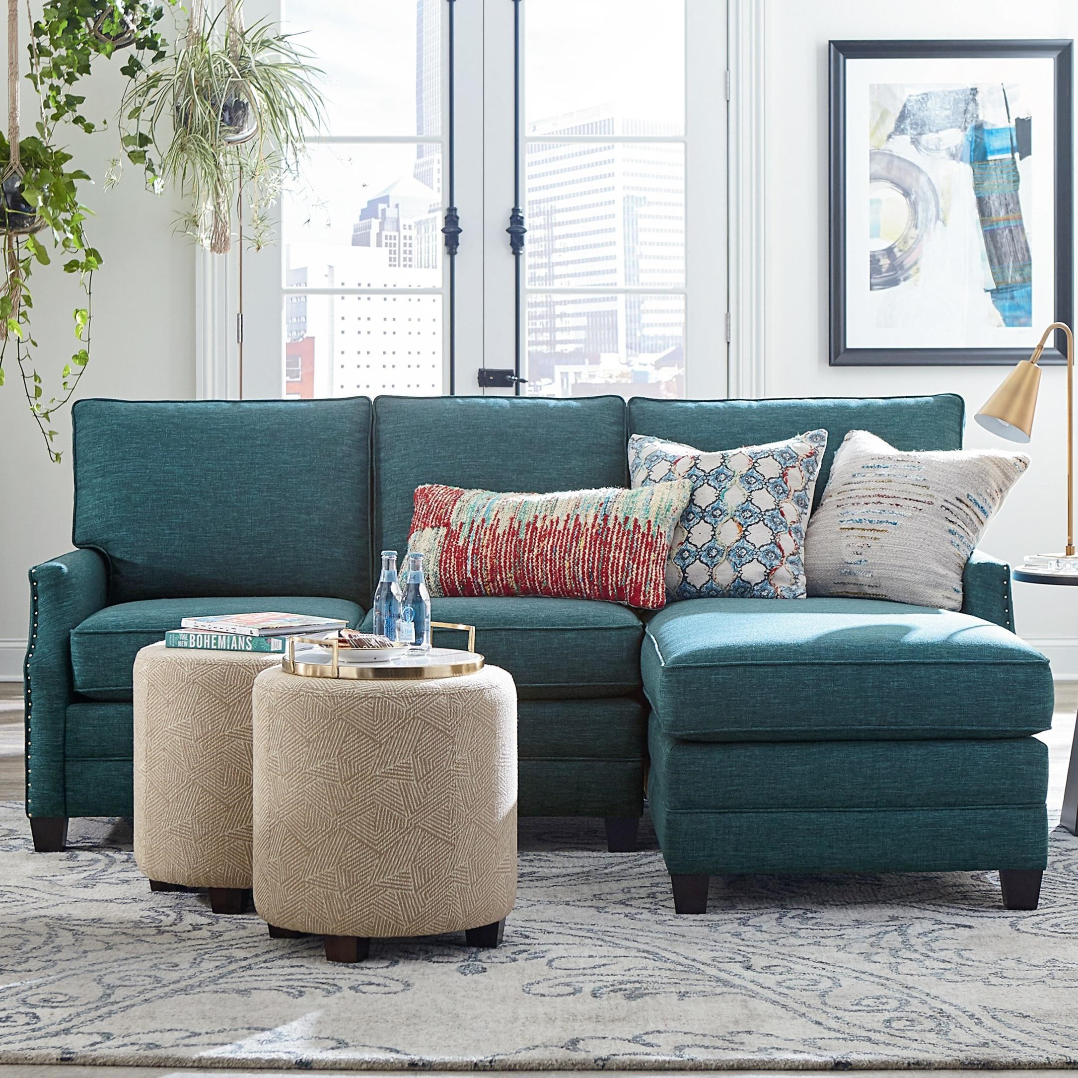 Bassett Studio Loft Cooper 2 Piece Sectional With Chaise Bassett Of Cool Springs Sectional Sofas