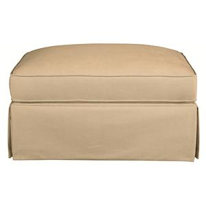Bassett Custom Upholstery - Medium Scale <b>Custom</b> Ottoman