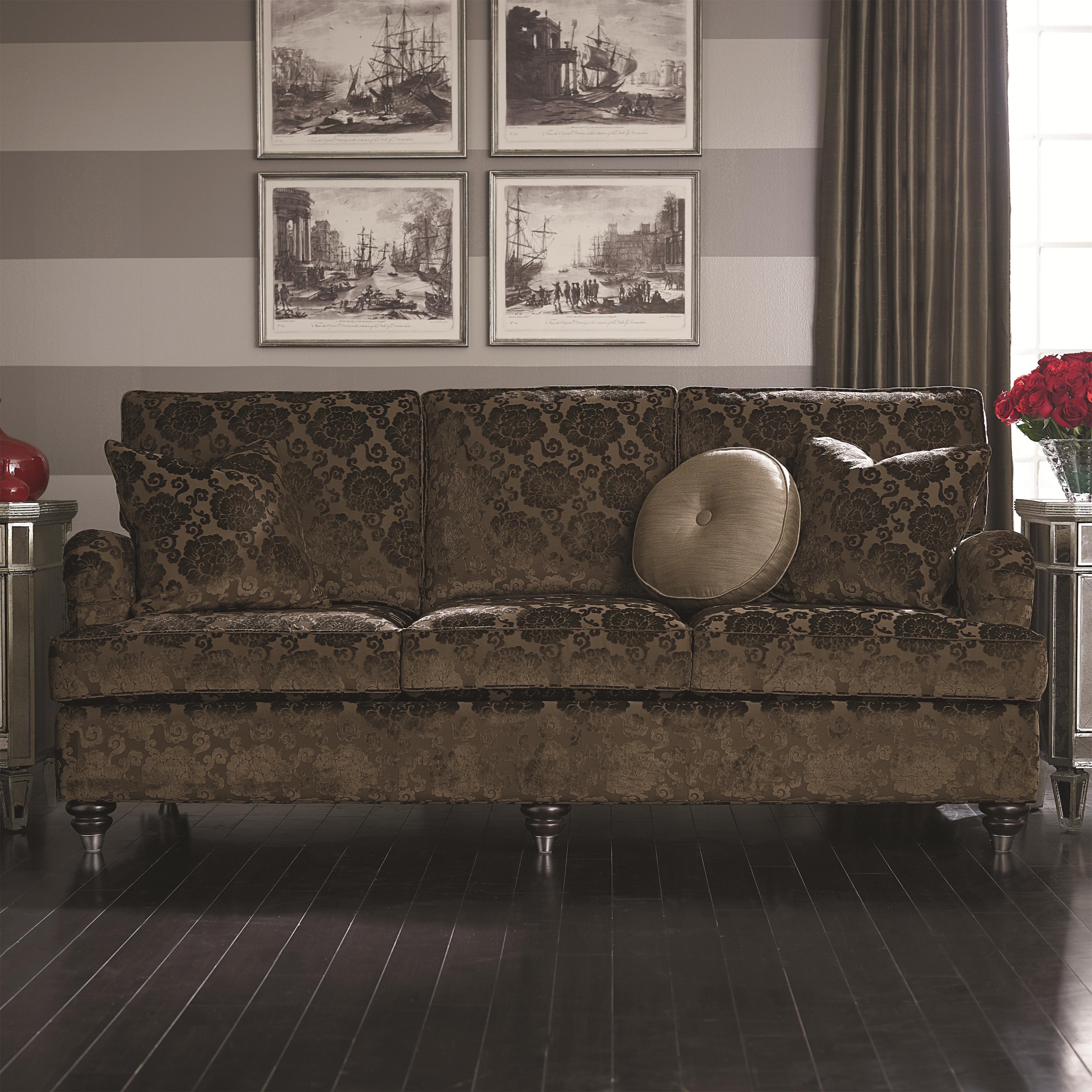 Bassett Custom Upholstery - Medium Scale <b>Custom</b> Sofa - Item Number: 4000-72T 2
