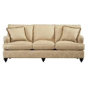 Bassett Custom Upholstery   Medium Scale U003cbu003eCustomu003c/bu003e Sofa