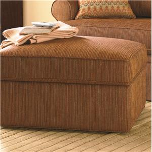Bassett Custom Upholstery - Medium Scale <b>Custom</b> Storage Ottoman