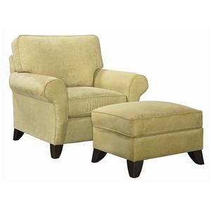 Bassett Tyson  Chair and Ottoman