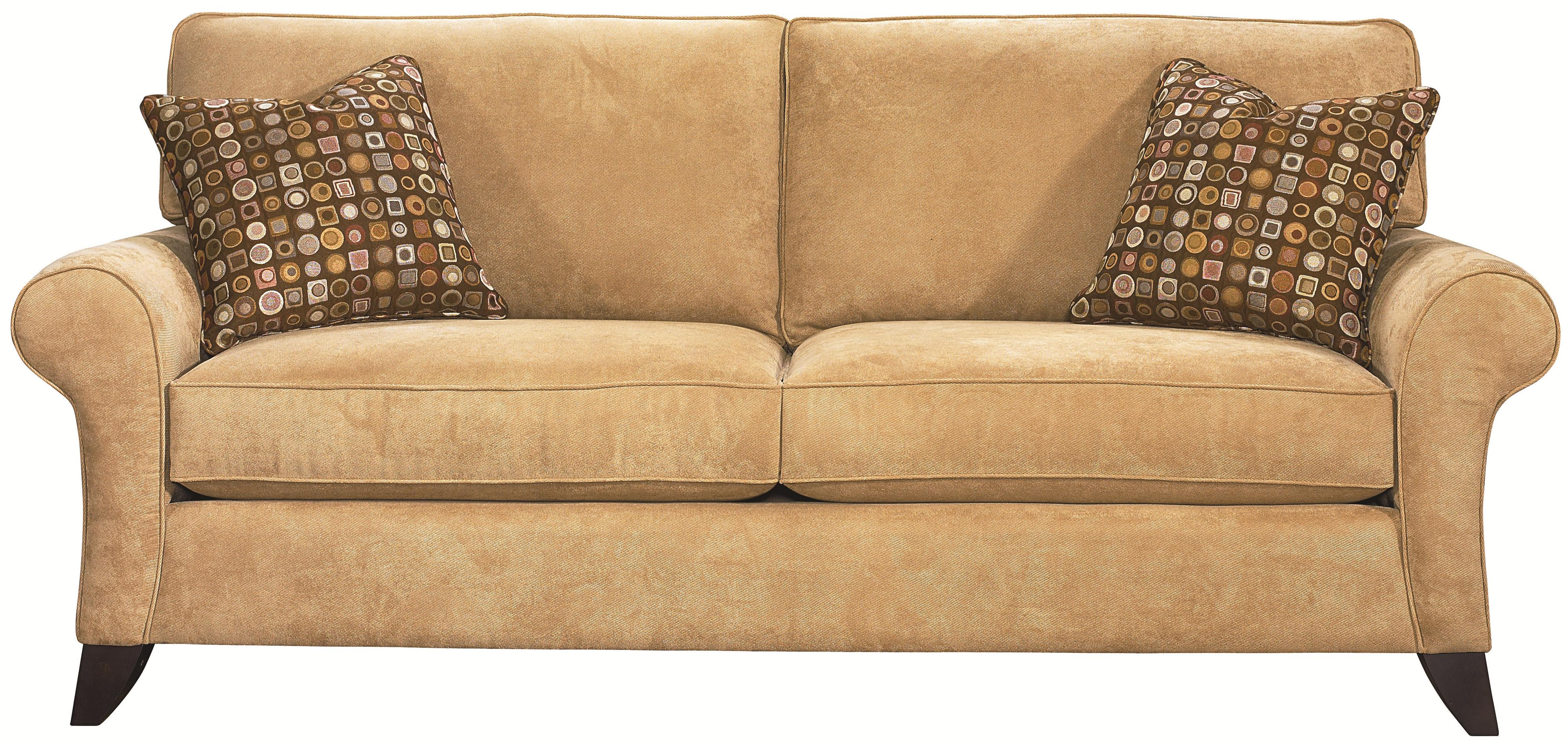 Bassett Tyson Transitional Stationary Sofa AHFA Sofa Dealer