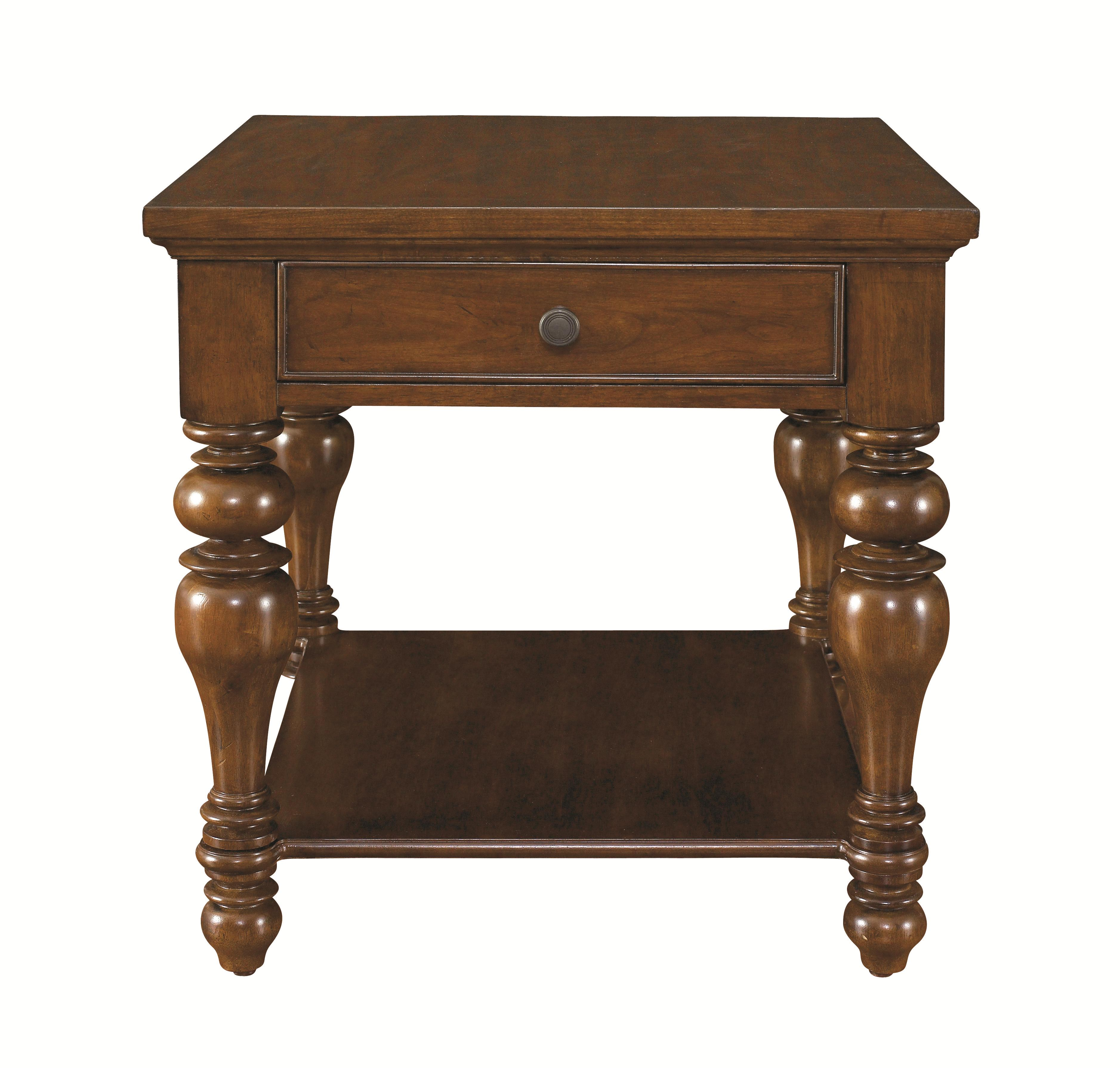 Bassett Warrenton Square End Table With 1 Drawer   AHFA   End Table Dealer  Locator