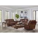 Bassett Williams - Club Level by Bassett Power Reclining Living Room Group - Item Number: 3731-K Living Room Group 1