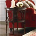 Bassett Woodberry Round Book Table with Decorative Partitions
