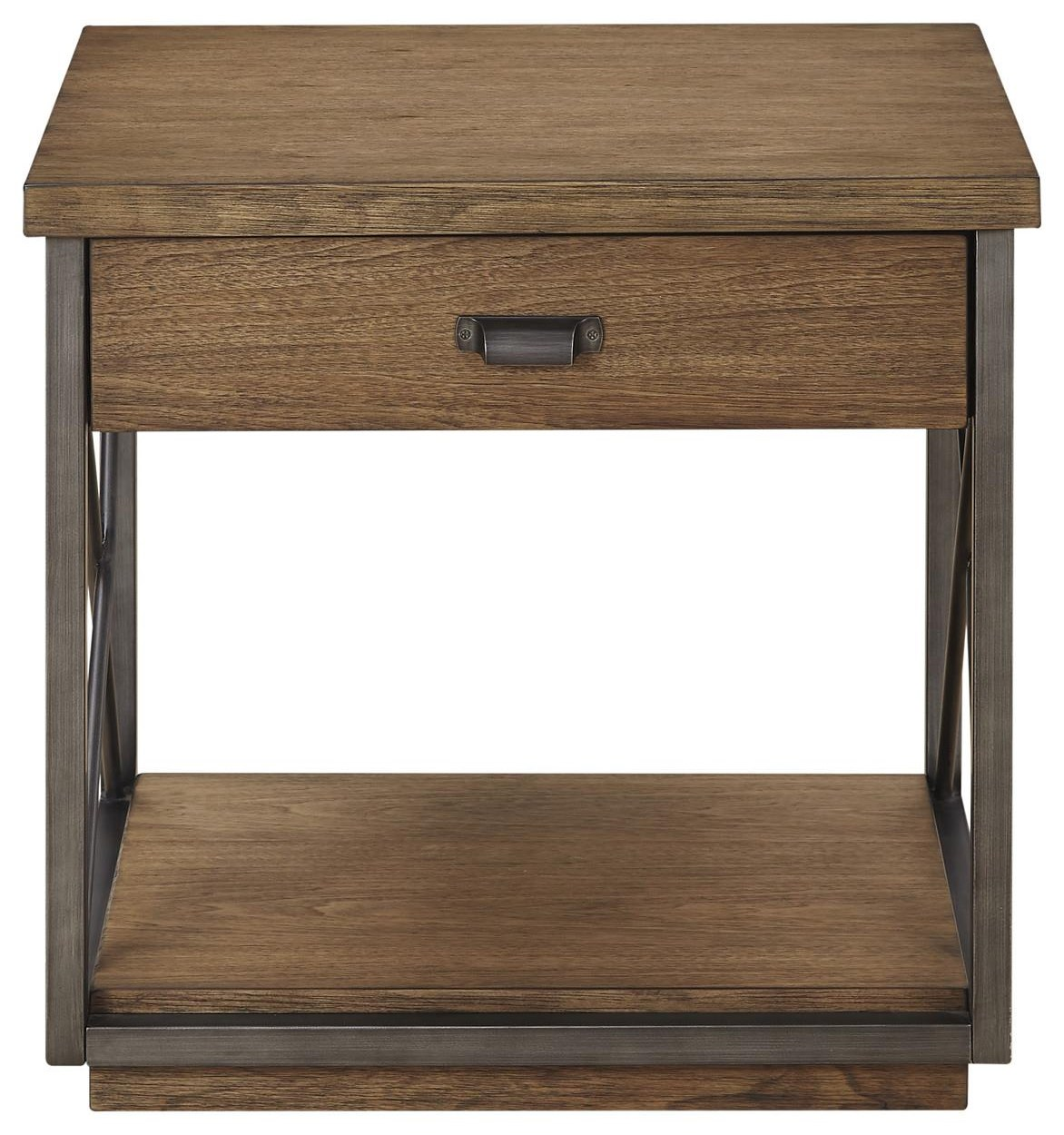Austin Rectangle End Table by Bassett Mirror at Johnny Janosik