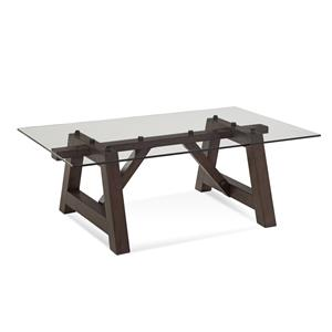 Bassett Mirror Belgian Luxe Ellsworth Rectangle Cocktail Table