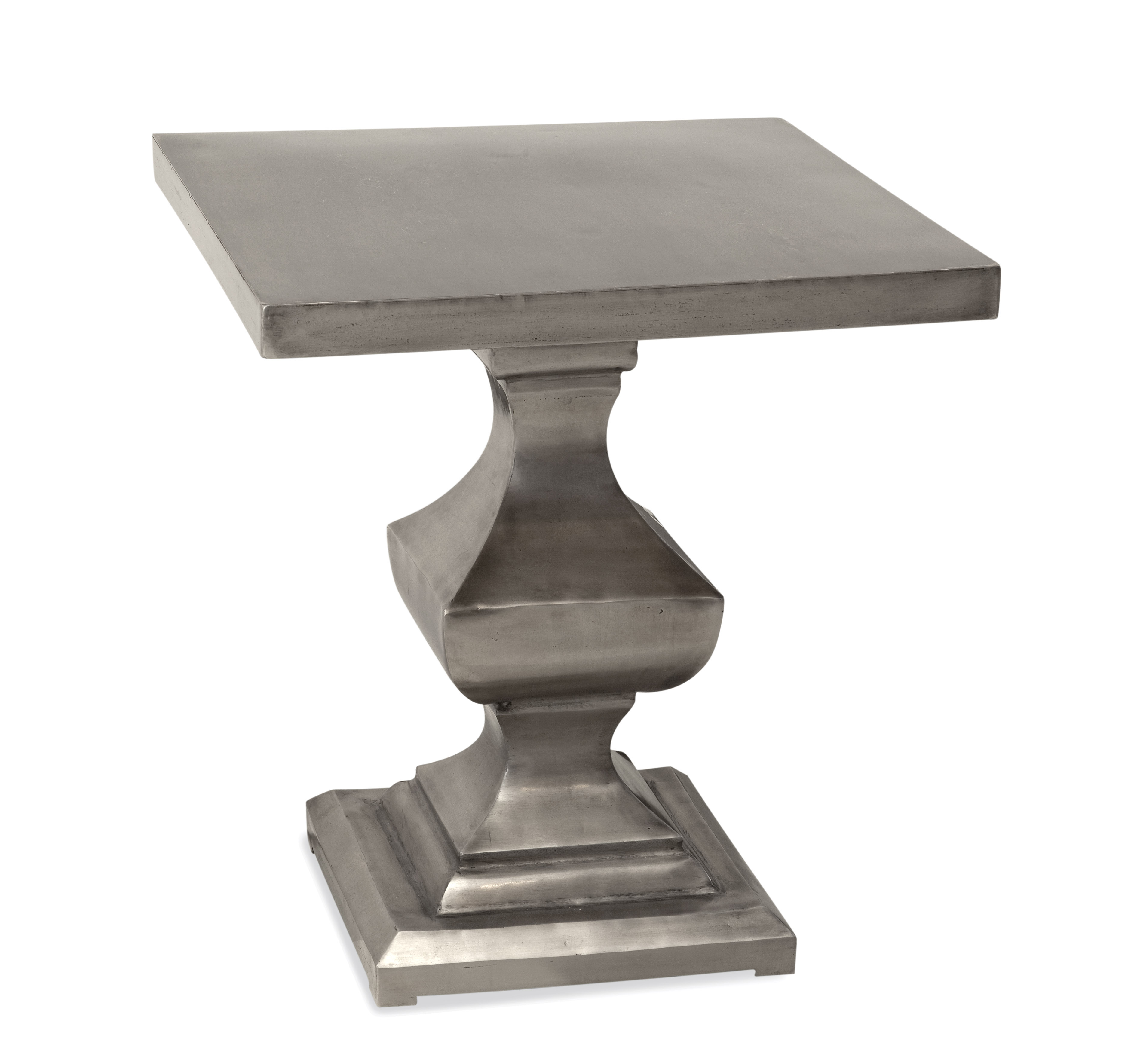 Belgian Luxe Emmit Square End Table by Bassett Mirror at Alison Craig Home Furnishings
