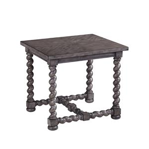 Bassett Mirror Belgian Luxe Bellerive Rectangle End Table