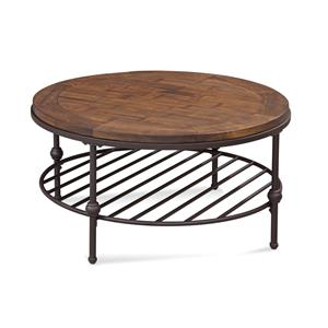 Bassett Mirror Belgian Luxe Emery Round Cocktail Table