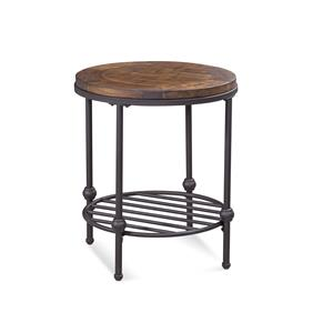 Bassett Mirror Belgian Luxe Emery Round End Table