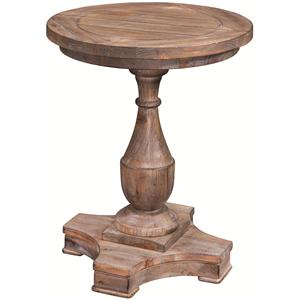 Bassett Mirror Hitchcock Round End Table