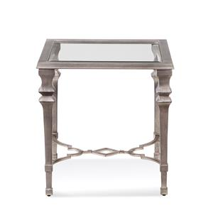 Bassett Mirror Hollywood Glam Sylvia Square End Table