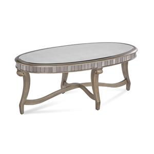 Bassett Mirror Hollywood Glam Celine Oval Cocktail Table