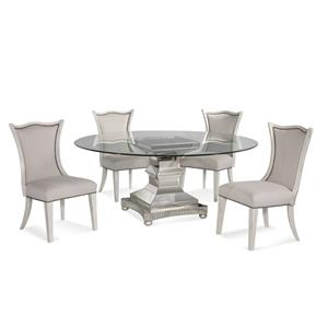 Bassett Mirror Hollywood Glam Moiselle Casual Dining Set