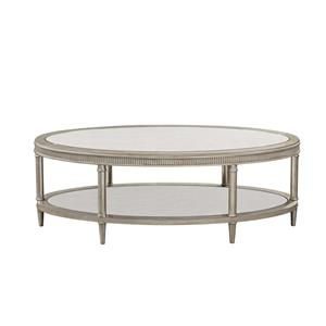Bassett Mirror Hollywood Glam Vanesta Oval Cocktail Table