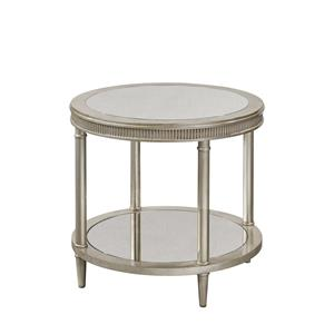 Bassett Mirror Hollywood Glam Vanesta Round End Table