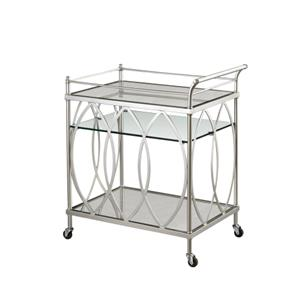 Bassett Mirror Hollywood Glam Vanesta Bar Cart