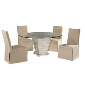 Bassett Mirror Hollywood Glam Borghese Casual Dining Set