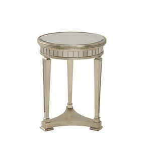 Bassett Mirror Hollywood Glam Borghese Round End Table
