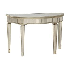 Bassett Mirror Hollywood Glam Borghese Demilune Console