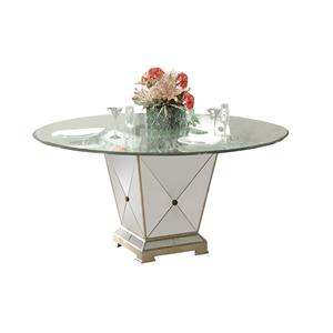 Bassett Mirror Hollywood Glam Borghese Dining Pedestal Table