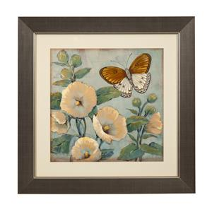 Bassett Mirror Hollywood Glam Butterfly & Hollyhocks I