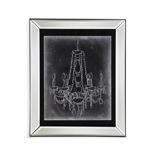 Bassett Mirror Hollywood Glam Chalkboard Chandelier Sketch I
