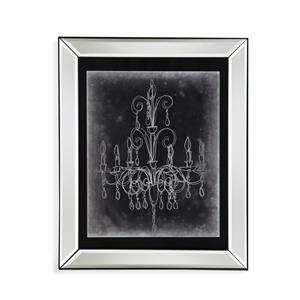 Bassett Mirror Hollywood Glam Chalkboard Chandelier Sketch II