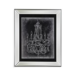 Bassett Mirror Hollywood Glam Chalkboard Chandelier Sketch III