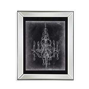 Bassett Mirror Hollywood Glam Chalkboard Chandelier Sketch IV