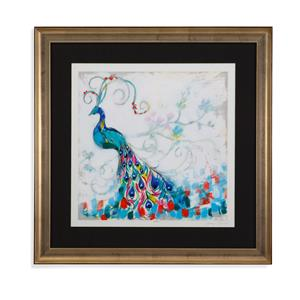 Bassett Mirror Hollywood Glam Confetti Peacock II