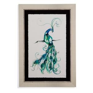 Bassett Mirror Hollywood Glam Aquarelle Peacock I