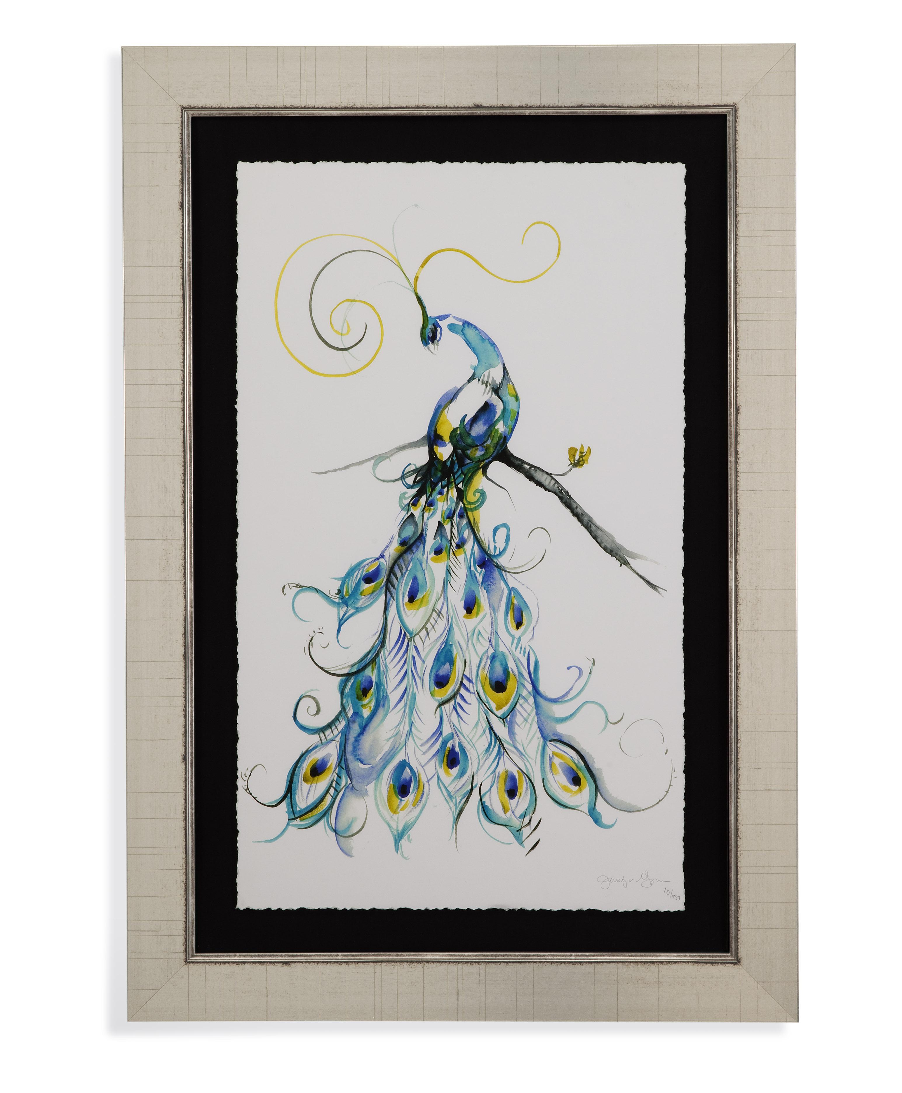 Aquarelle Peacock II
