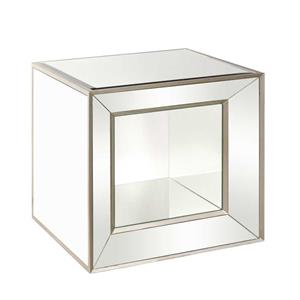 Bassett Mirror Hollywood Glam Minetta Mirrored Cube