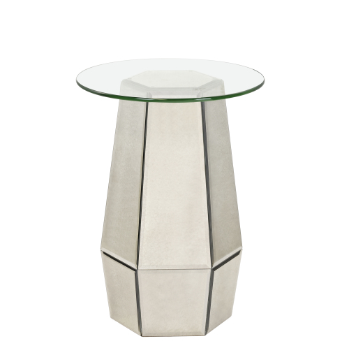 Hollywood Glam Ludlam Accent Table by Bassett Mirror at Jacksonville Furniture Mart