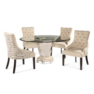 Bassett Mirror Hollywood Glam Reflections Casual Dining Set