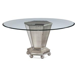 Bassett Mirror Hollywood Glam Reflections Dining Table