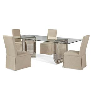 Bassett Mirror Hollywood Glam Murano Casual Dining Set