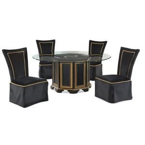 Bassett Mirror Hollywood Glam VillaGranada Casual Dining Set