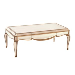 Bassett Mirror Hollywood Glam Collette Rectangle Cocktail Table